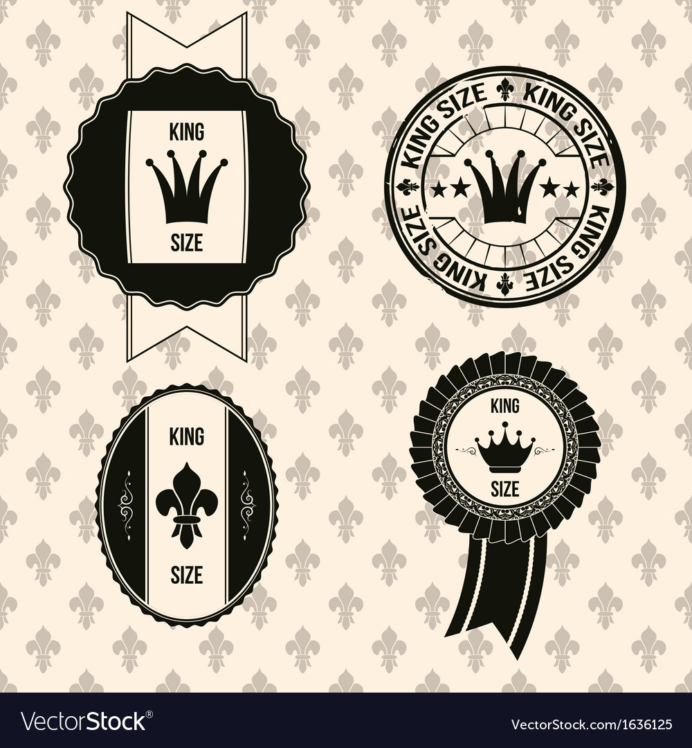 King royal labels vector | Price: 1 Credit (USD $1)