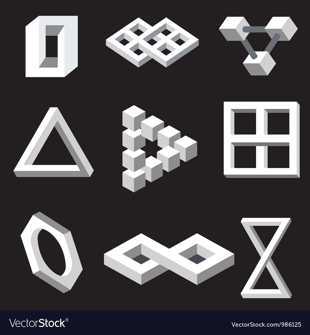 Optical symbols vector | Price: 1 Credit (USD $1)