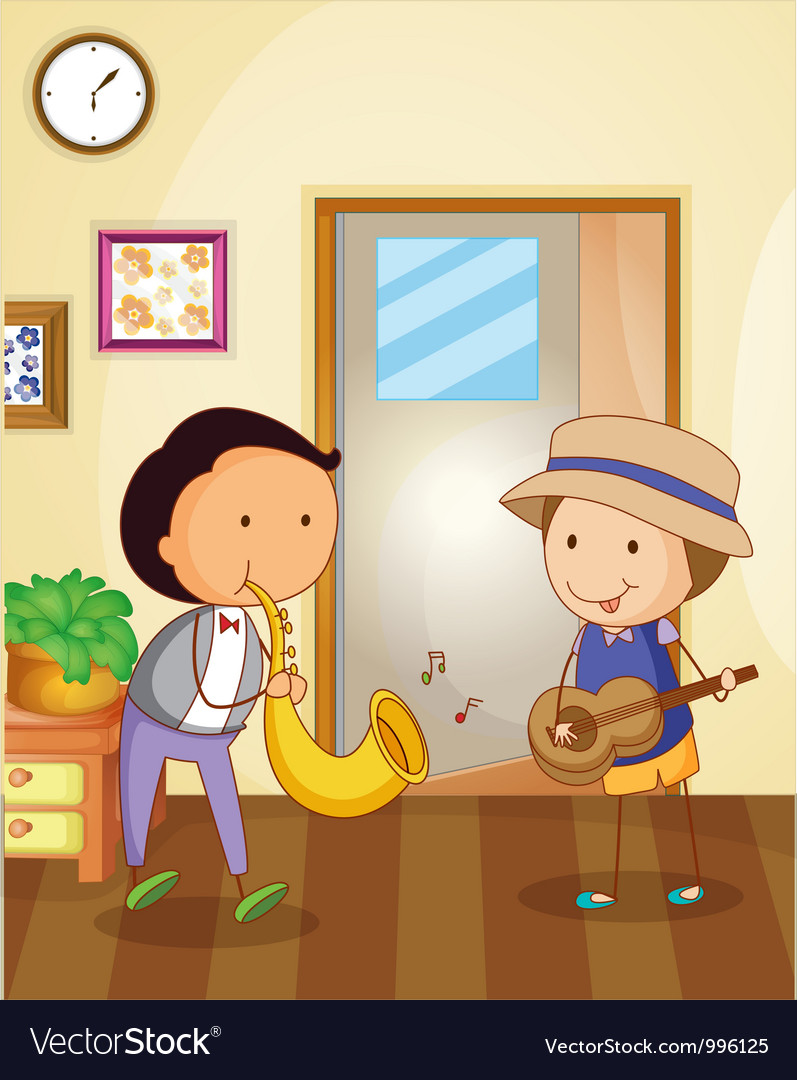 Playing music vector | Price: 3 Credit (USD $3)