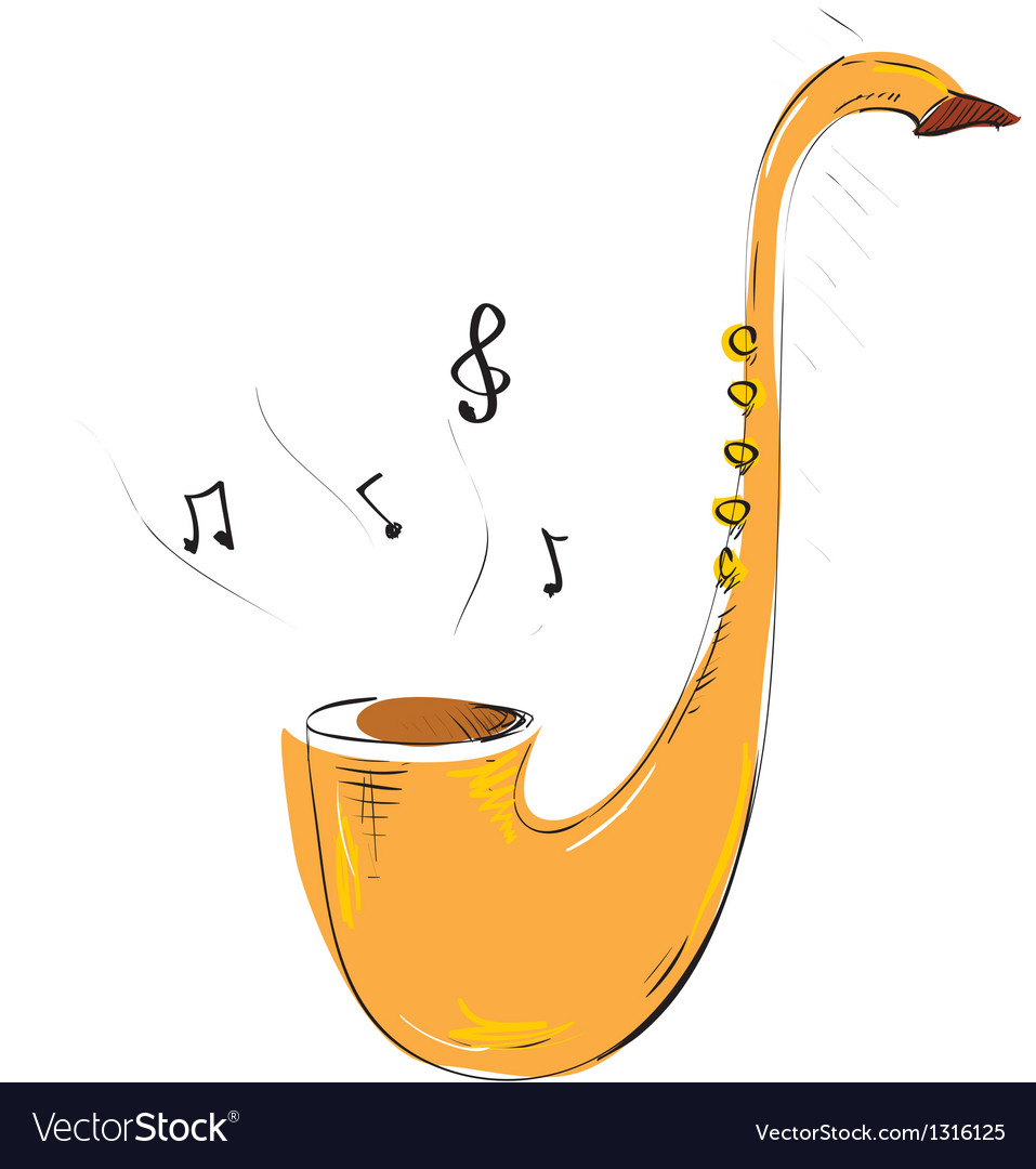 Saxophone vector | Price: 1 Credit (USD $1)