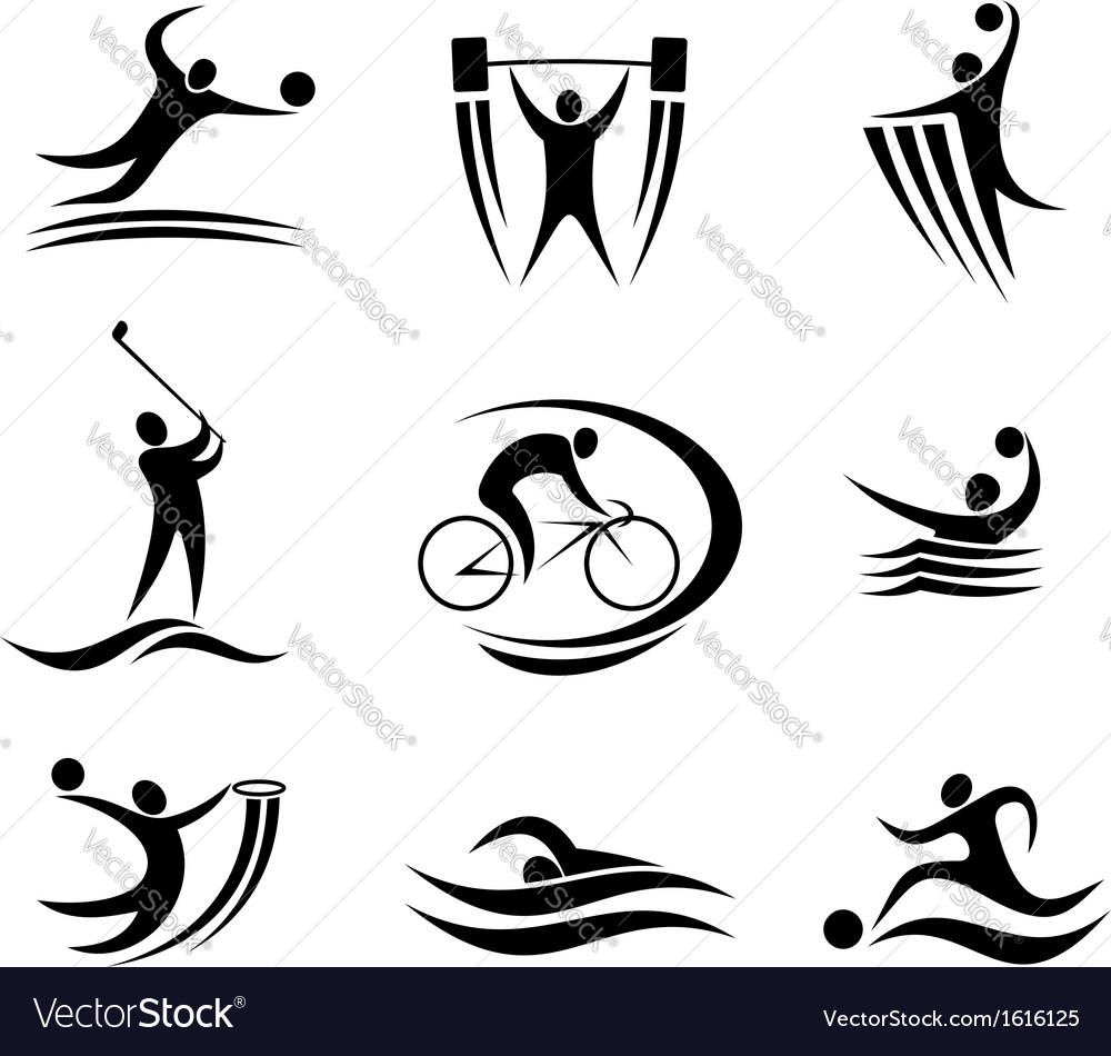 Sports icons and symbols vector | Price: 1 Credit (USD $1)
