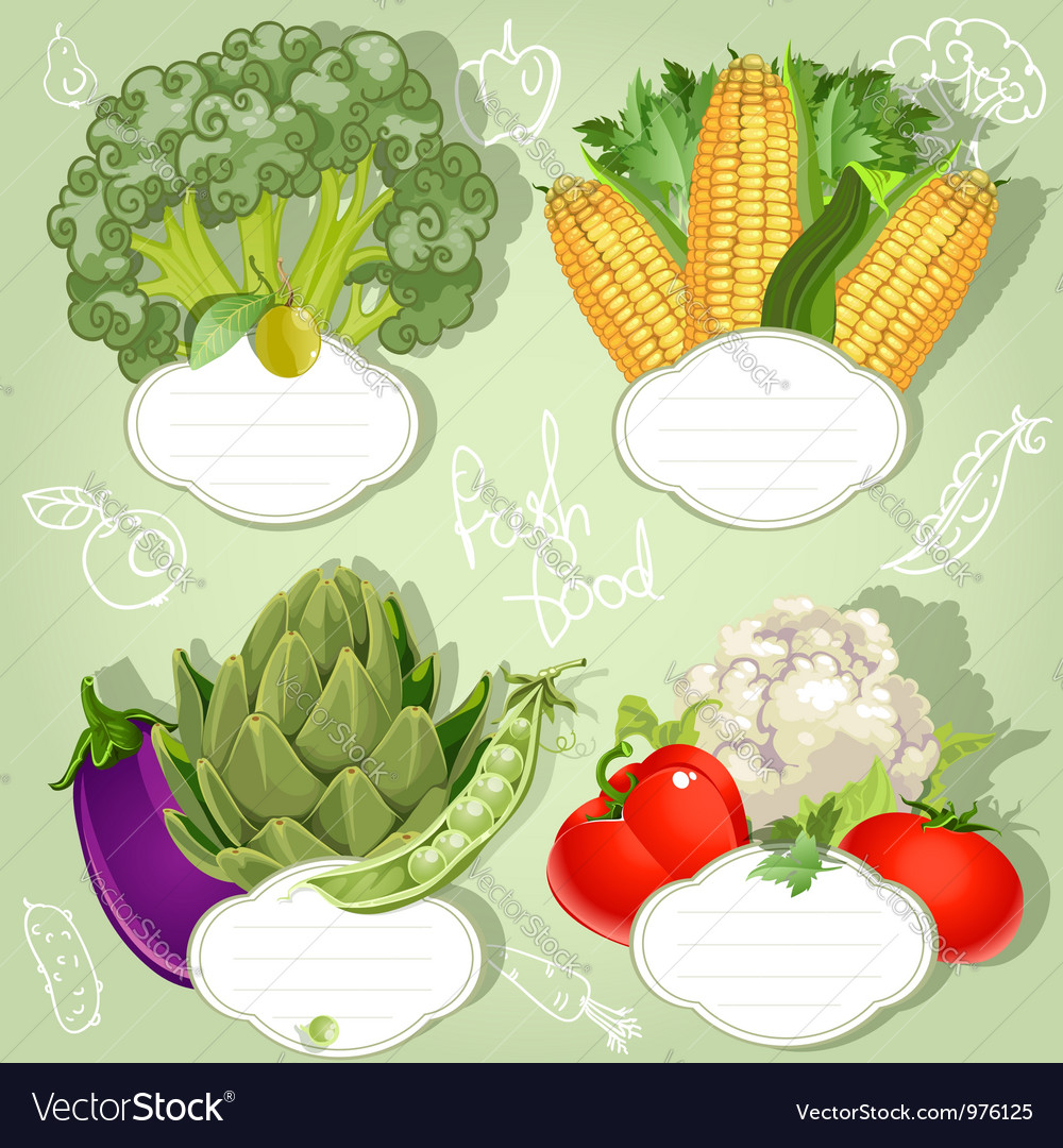 Vegetarian menu banners with the field for your vector | Price: 3 Credit (USD $3)