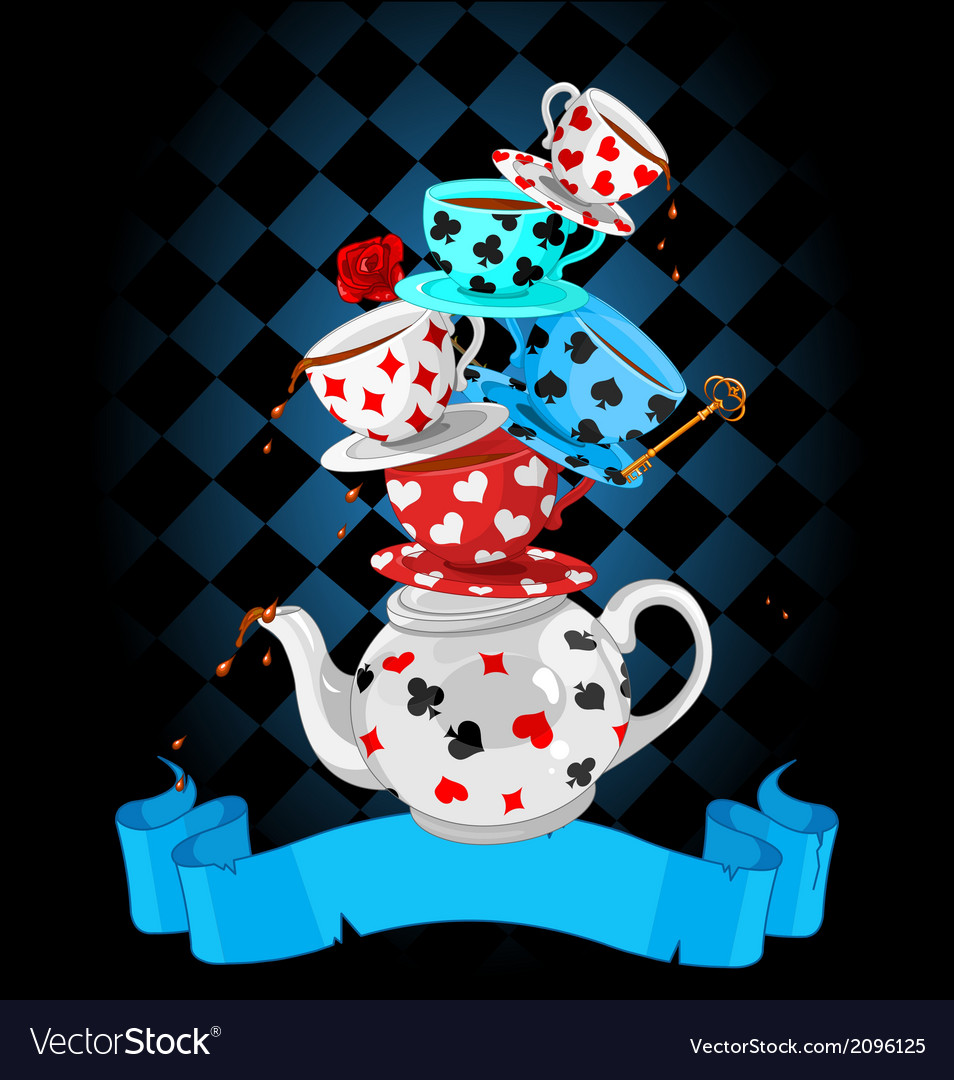 Wonder tea party pyramid design vector | Price: 3 Credit (USD $3)