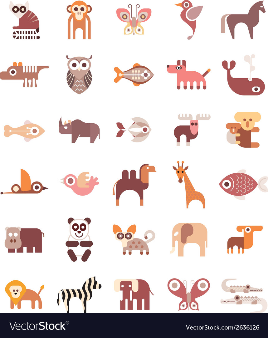 Animal icons vector | Price: 3 Credit (USD $3)