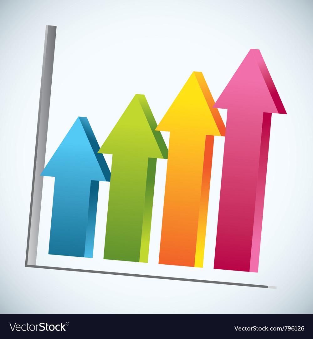 Arrow bar graph vector | Price: 1 Credit (USD $1)