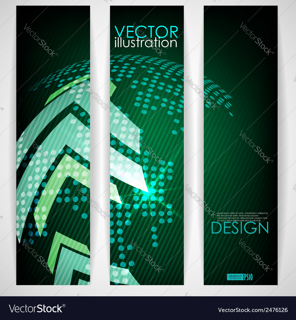 Arrow green background with place for your text vector | Price: 1 Credit (USD $1)