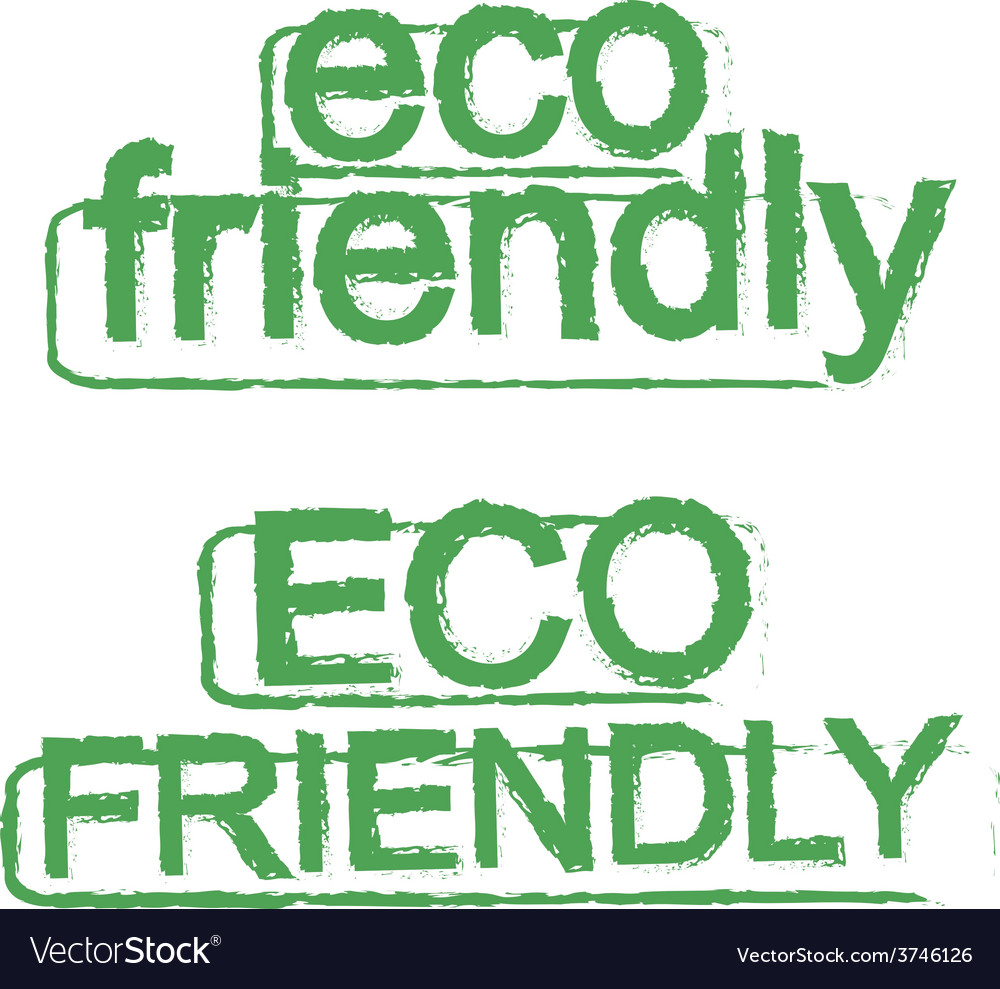 Eco friendly ecology sign green vector | Price: 1 Credit (USD $1)
