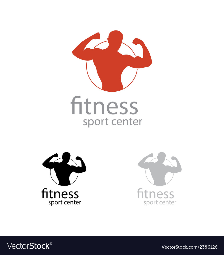 Fitness sport center logo vector | Price: 1 Credit (USD $1)