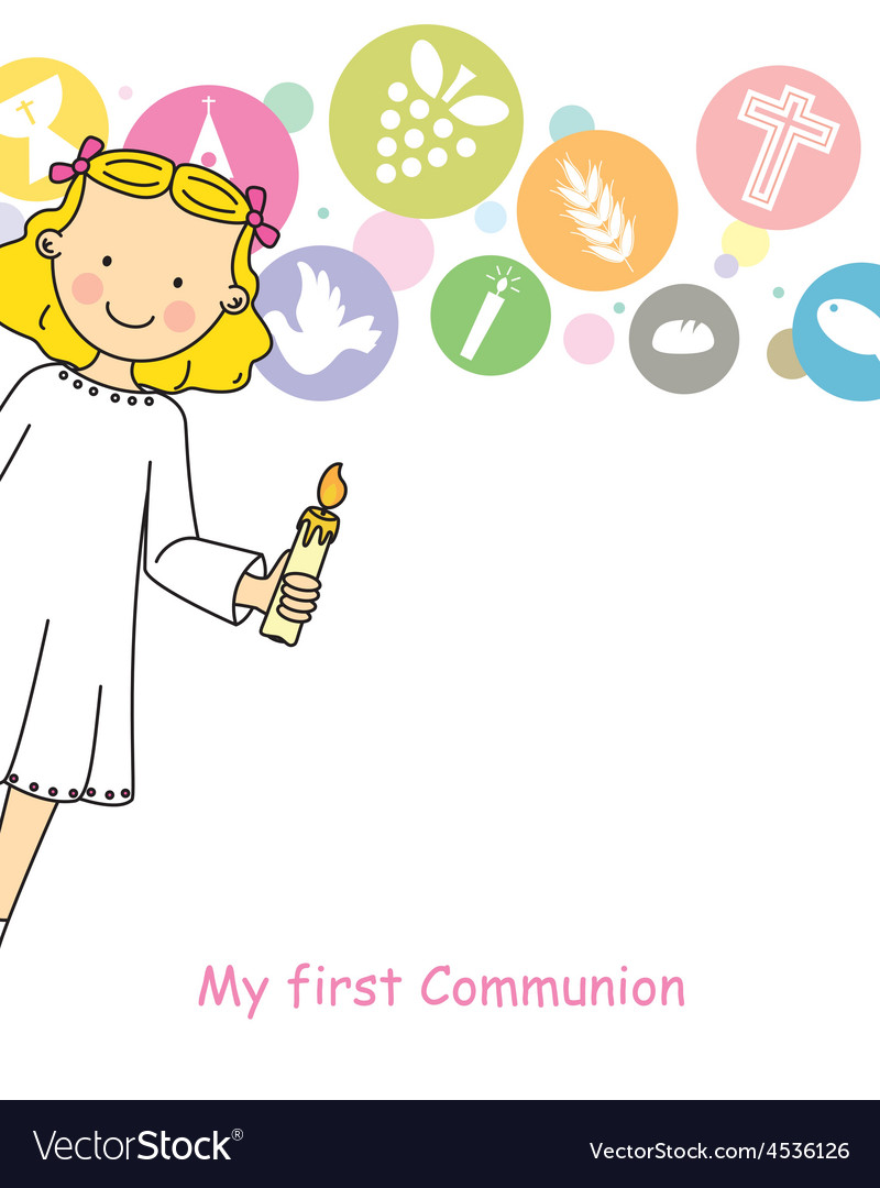Girl first communion vector   Price: 1 Credit (USD $1)
