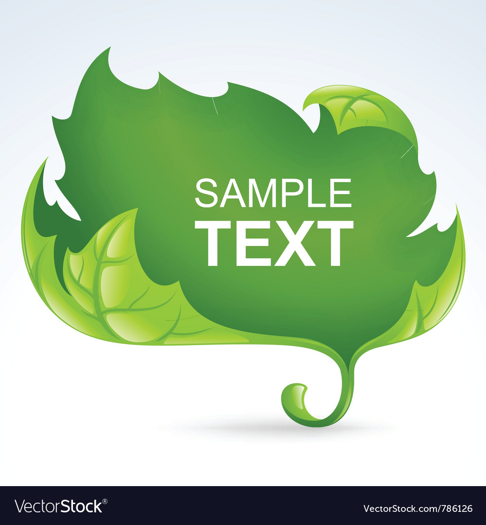 Green leaf frame spring background vector | Price: 1 Credit (USD $1)