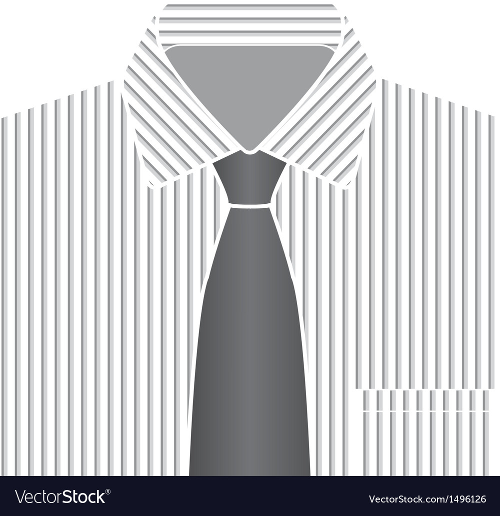 Grey tone shirt and tie vector | Price: 1 Credit (USD $1)