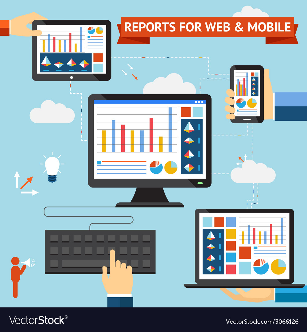 Reports for web and mobile vector | Price: 1 Credit (USD $1)