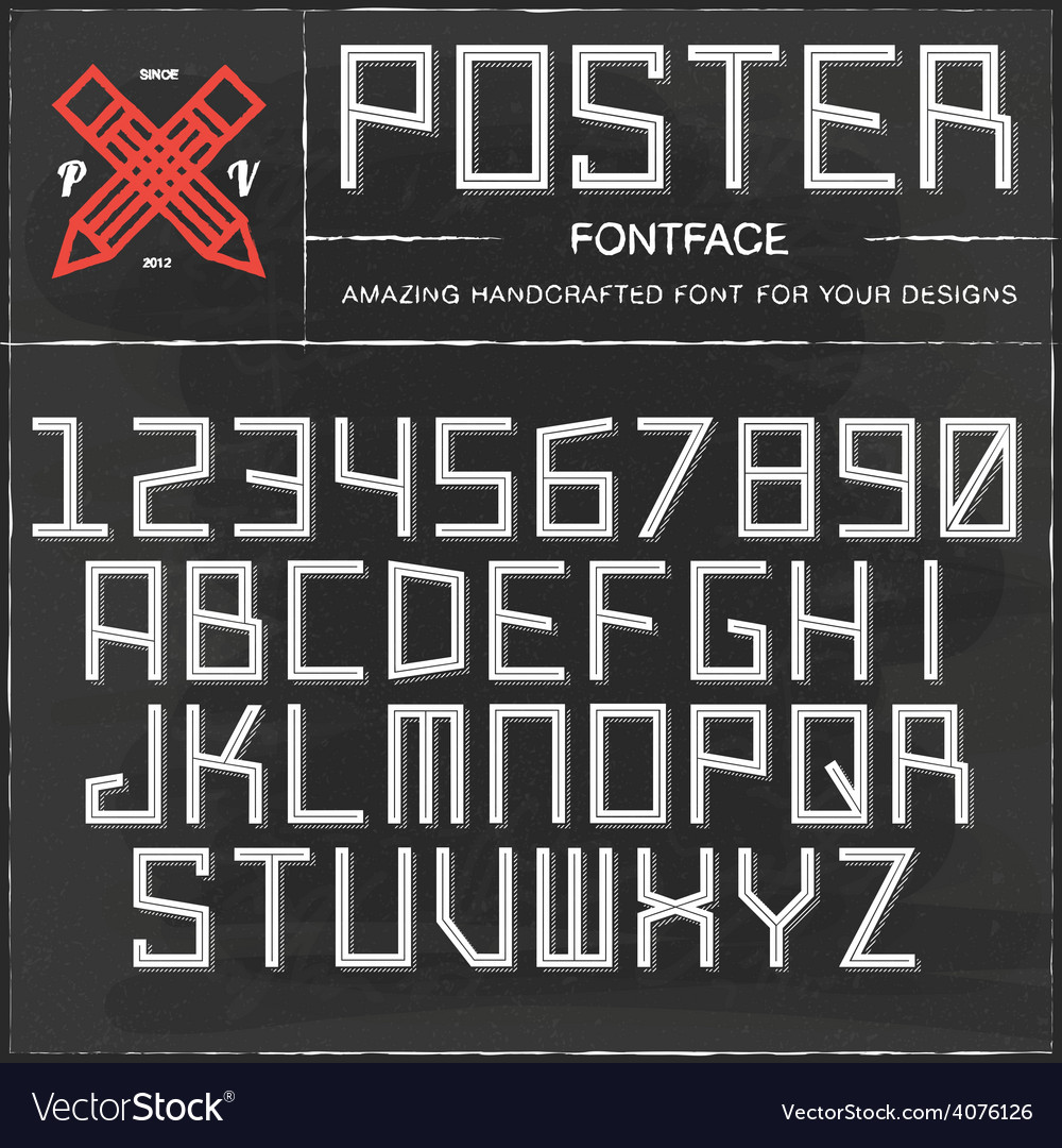 Retro poster font vector | Price: 1 Credit (USD $1)