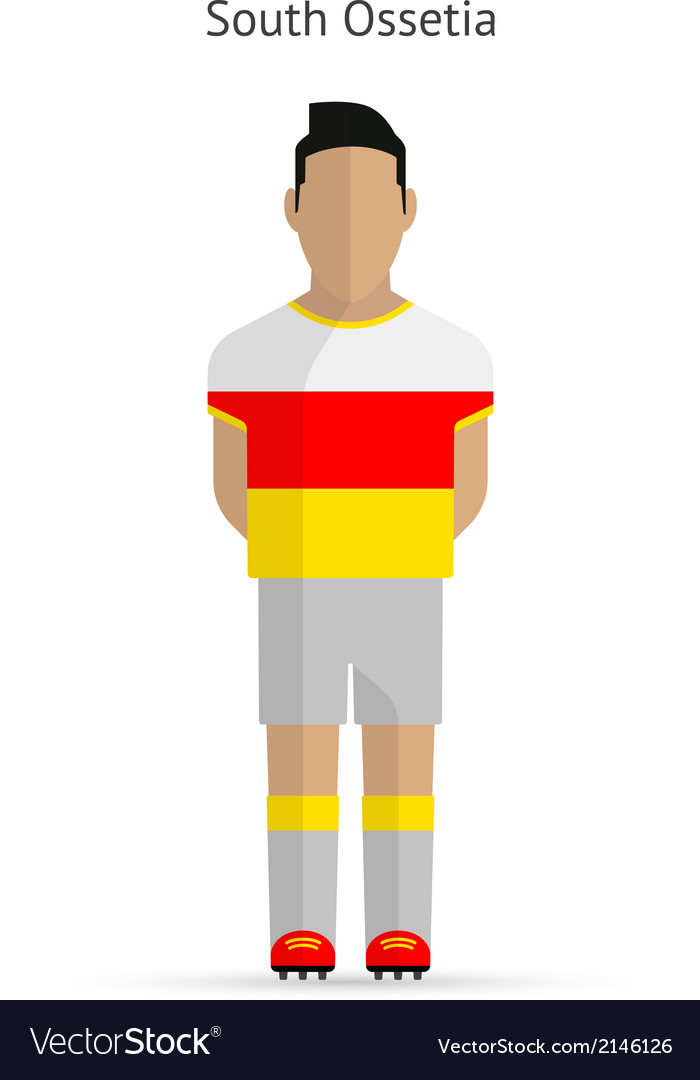 South ossetia football player soccer uniform vector | Price: 1 Credit (USD $1)