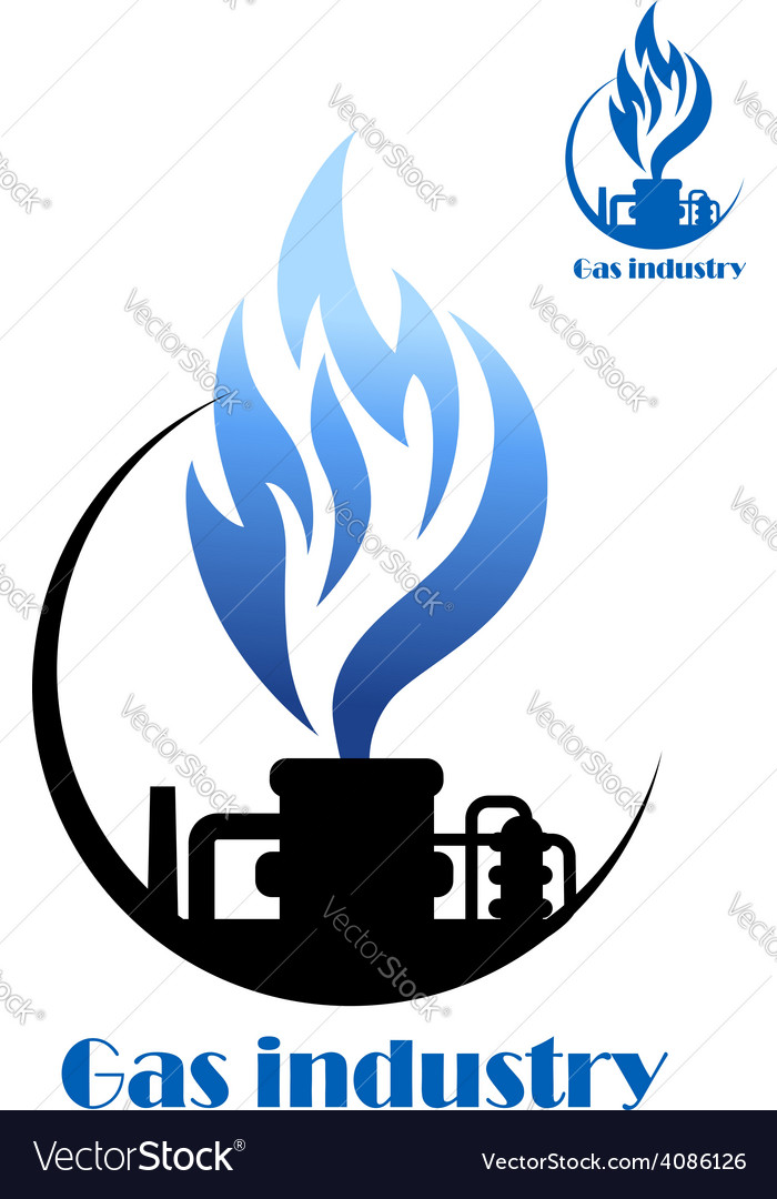 Well gas production and gas processing vector   Price: 1 Credit (USD $1)