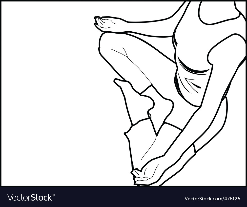 Yoga position vector | Price: 1 Credit (USD $1)