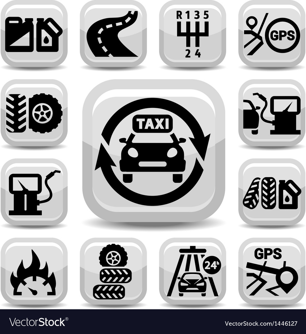 Auto icon set vector | Price: 1 Credit (USD $1)