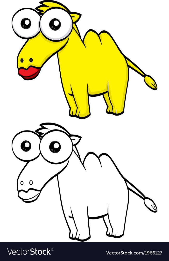 Cartoon camel vector | Price: 1 Credit (USD $1)