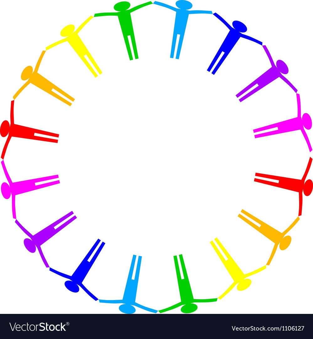 Colorful icon of people in circle vector | Price: 1 Credit (USD $1)