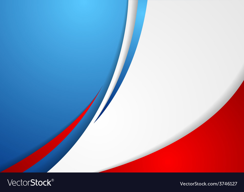 Corporate wavy abstract background french colors vector | Price: 1 Credit (USD $1)