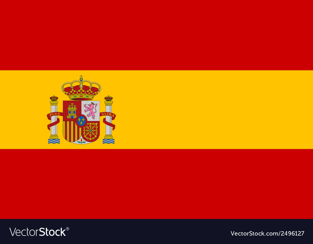 Flag of spain vector