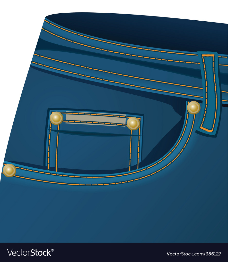 Front pocket of a jeans vector | Price: 1 Credit (USD $1)