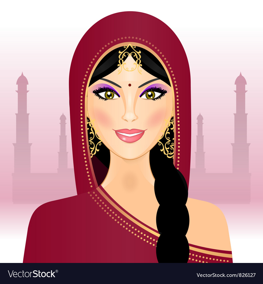 Indian woman vector   Price: 3 Credit (USD $3)