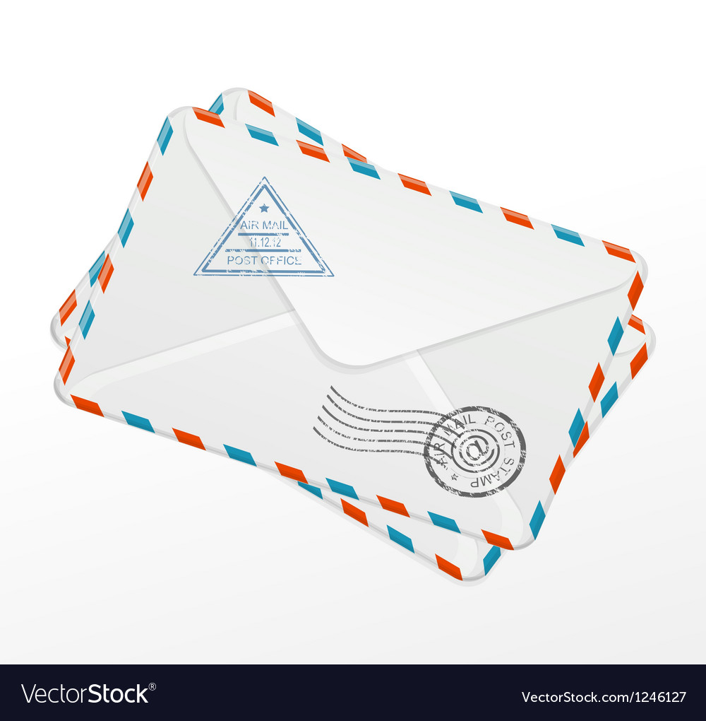 Package of old letters vector | Price: 3 Credit (USD $3)