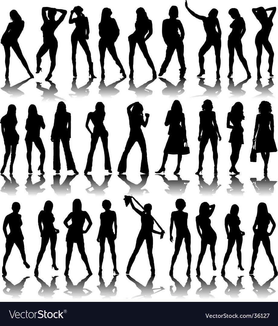 Sexy ladies shadow vector | Price: 1 Credit (USD $1)