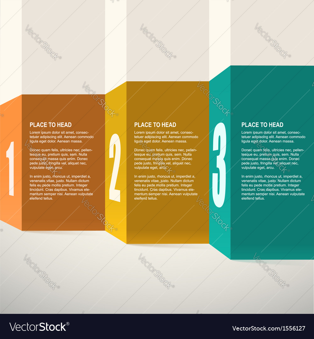 Template for presentation infographics design vector | Price: 1 Credit (USD $1)