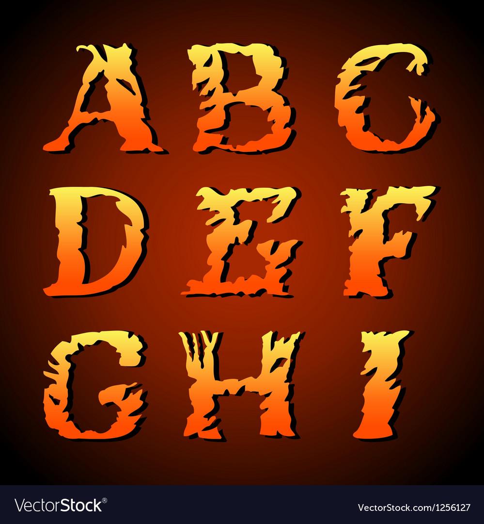 Vintage alphabet set on background vector | Price: 1 Credit (USD $1)