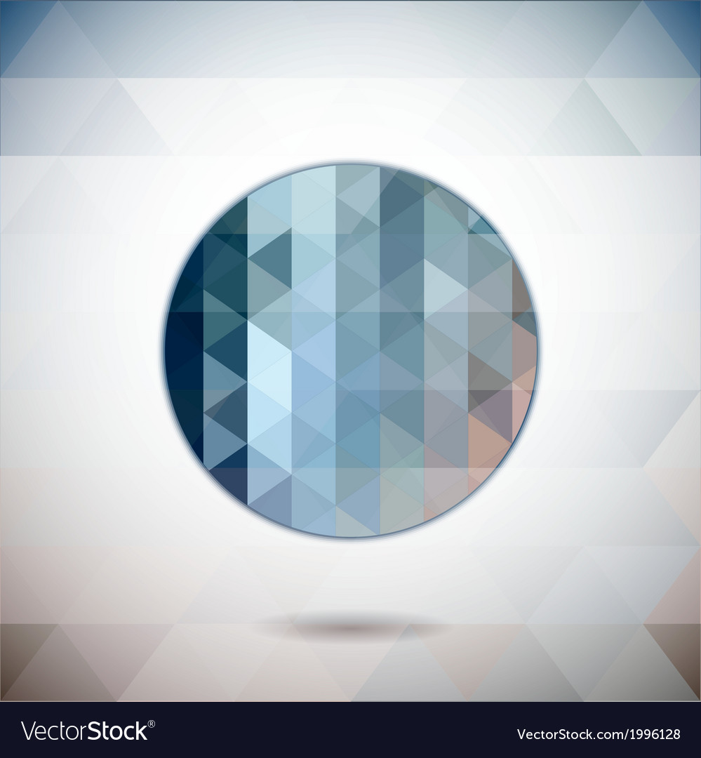 Abstract circle with triangles vector | Price: 1 Credit (USD $1)