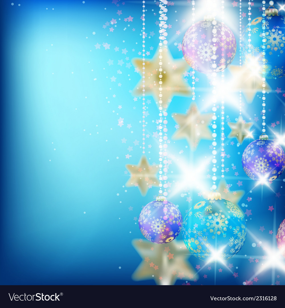 Beautiful blue christmas background vector | Price: 1 Credit (USD $1)