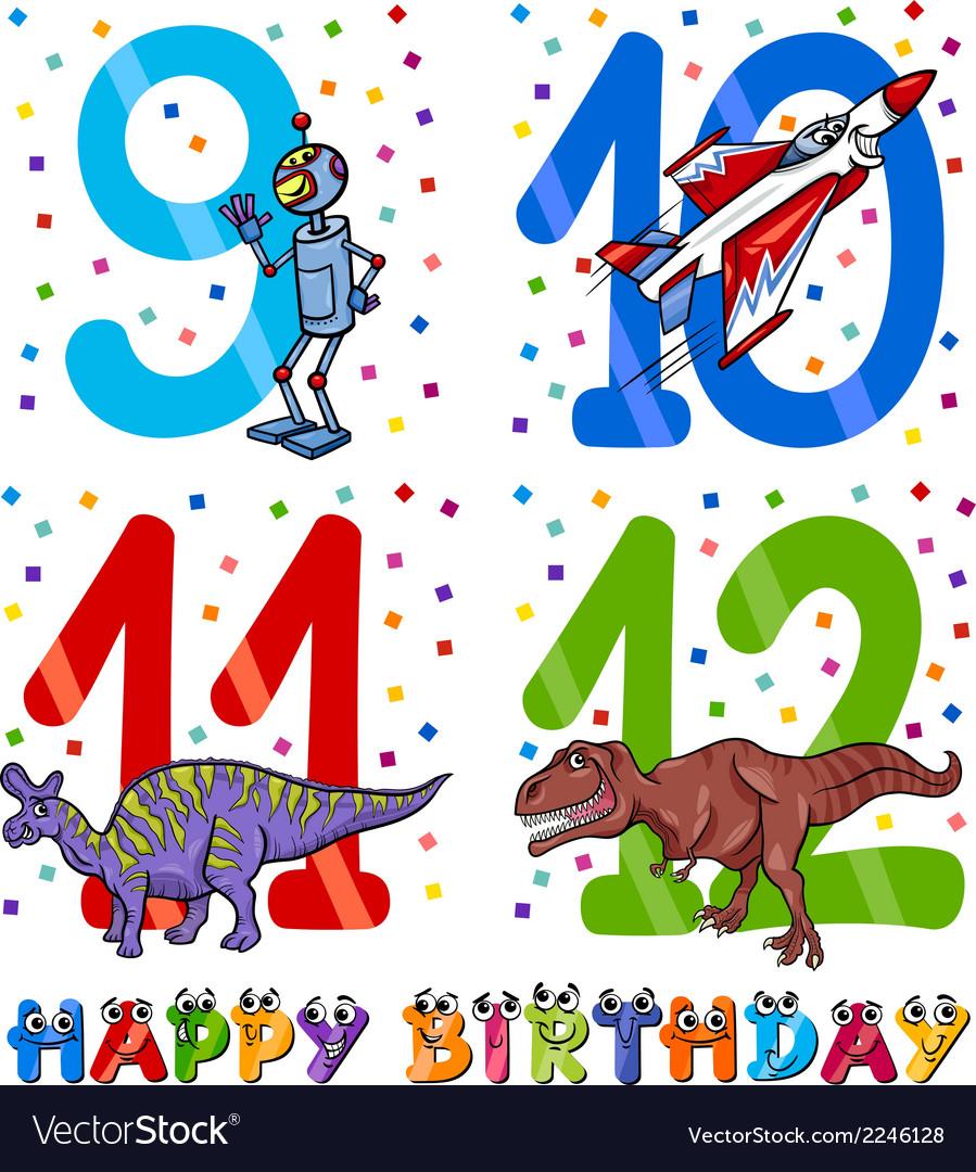 Birthday cartoon design for boy vector | Price: 1 Credit (USD $1)