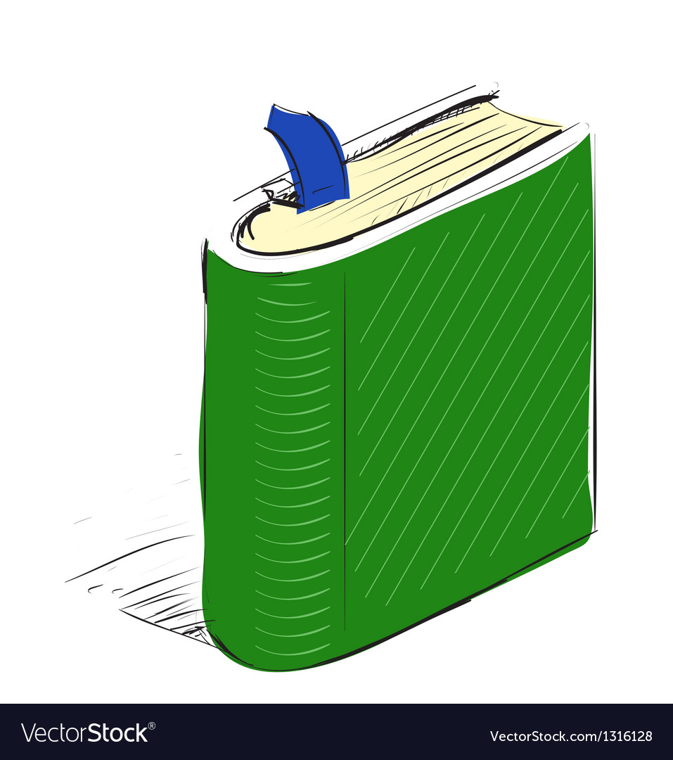 Book note book with bookmark vector | Price: 3 Credit (USD $3)