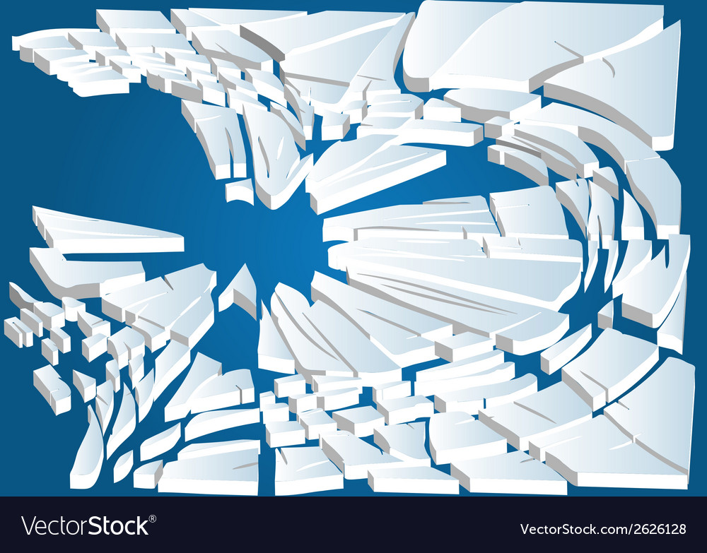 Broken ice on blue water vector | Price: 1 Credit (USD $1)