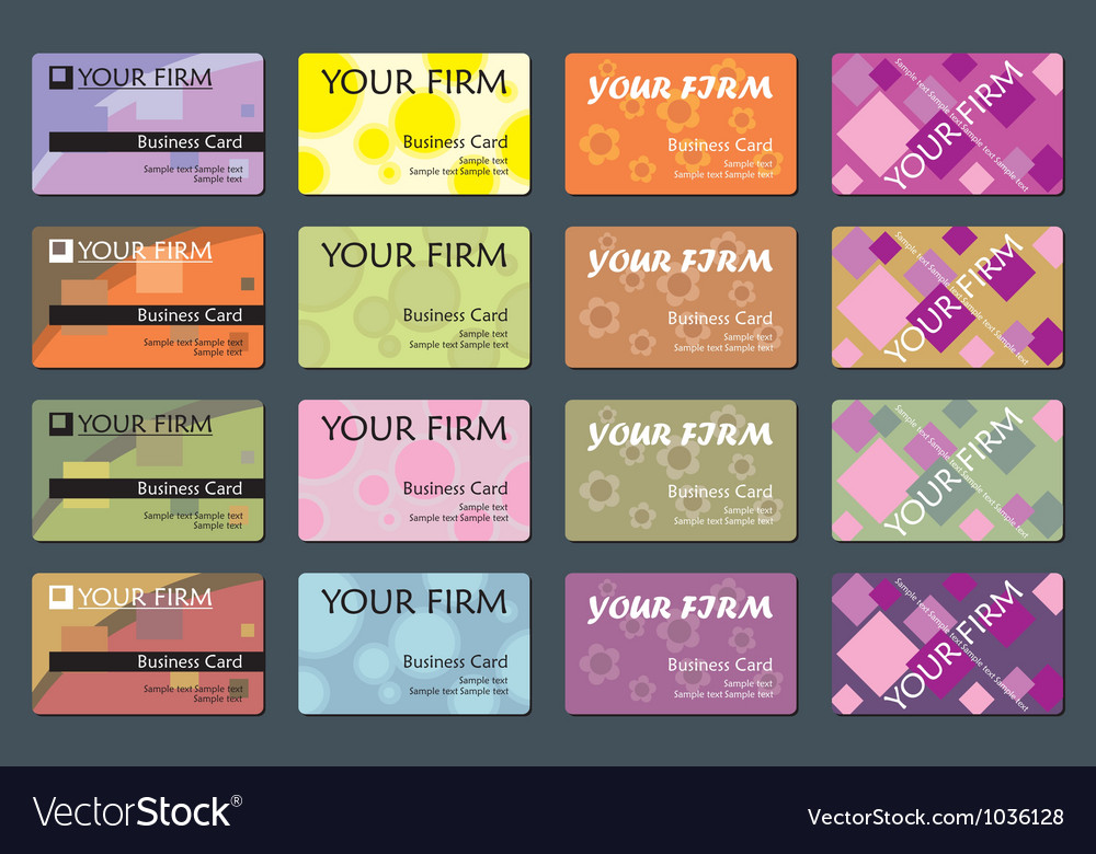Business name card set vector | Price: 1 Credit (USD $1)