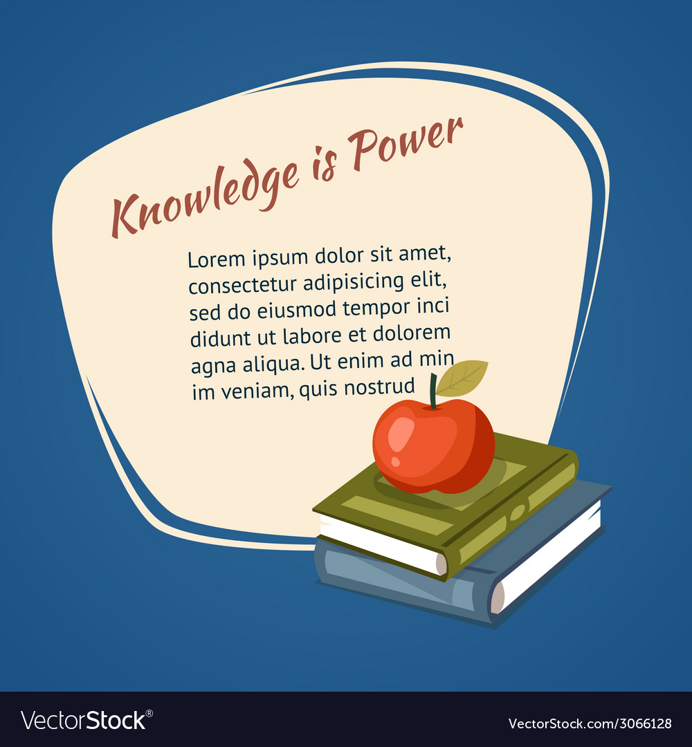 Knowledge is power poster vector | Price: 1 Credit (USD $1)