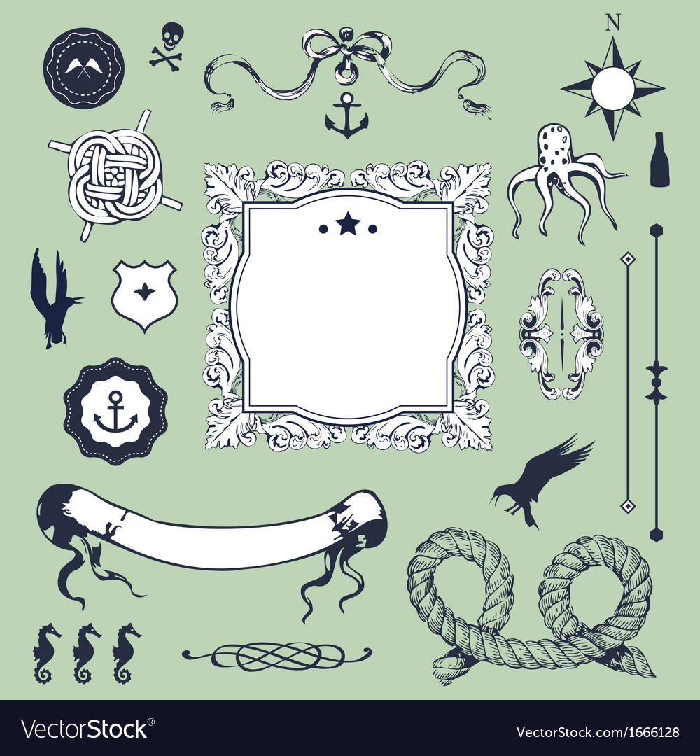 Nautical retro vector | Price: 1 Credit (USD $1)