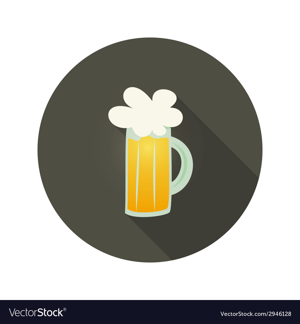 Oktoberfest beer glass mug circle dark brown icon vector | Price: 1 Credit (USD $1)