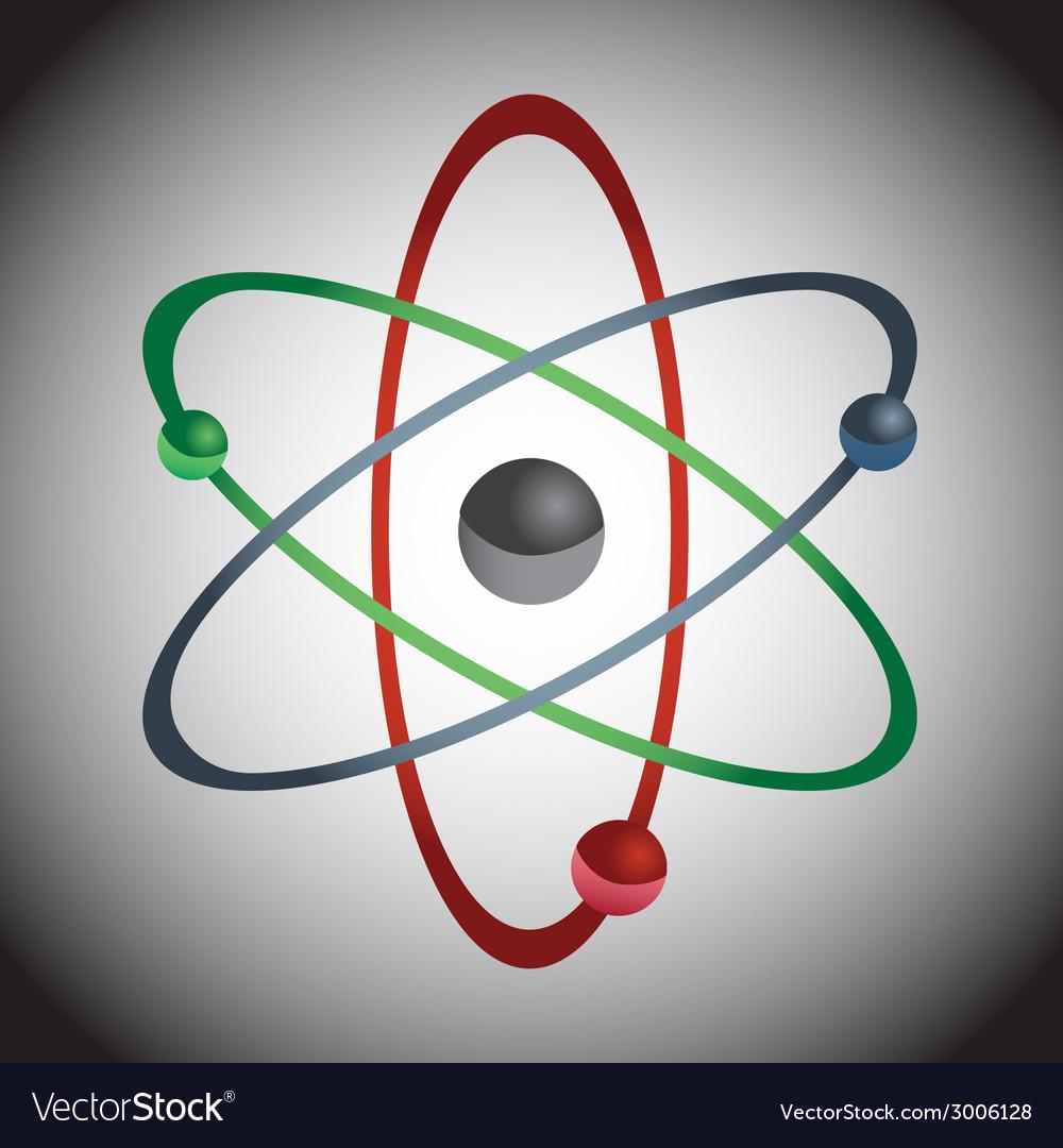 Simple color atom model eps10 vector | Price: 1 Credit (USD $1)