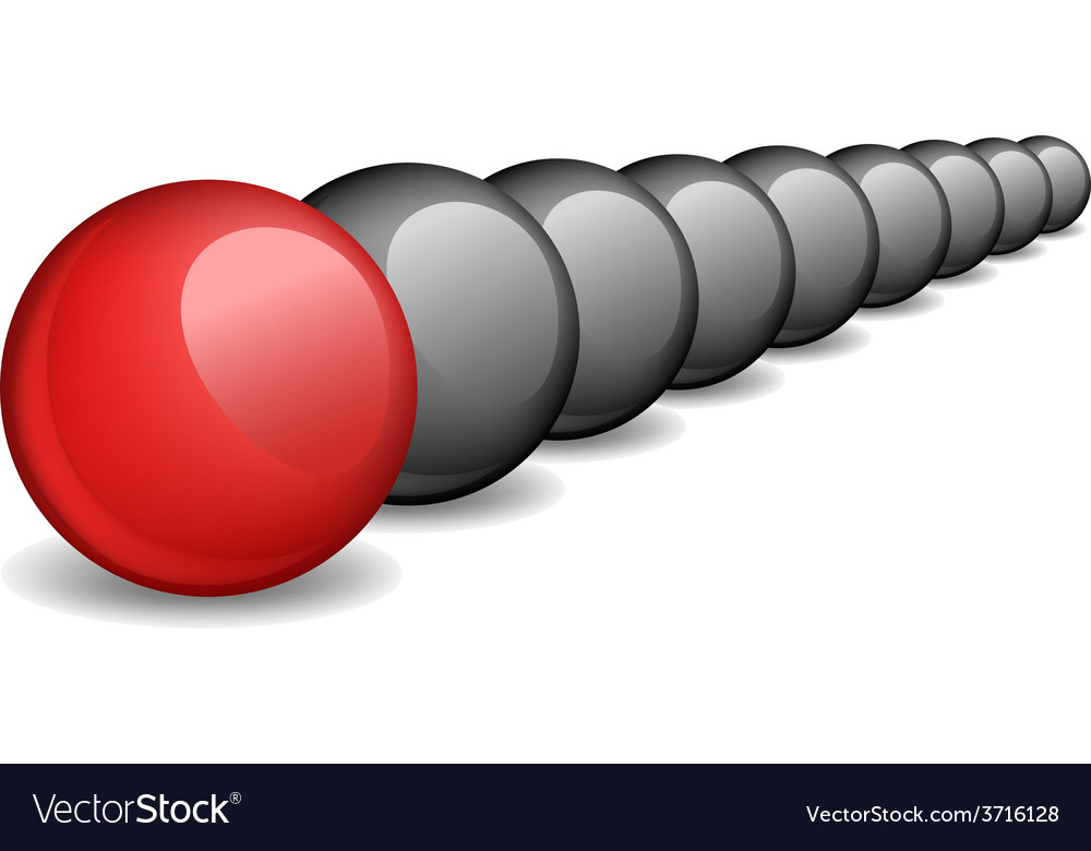 Unique red ball individuality vector | Price: 1 Credit (USD $1)