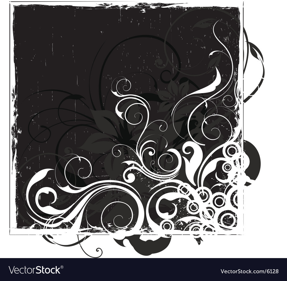 Urban floral background vector | Price: 1 Credit (USD $1)