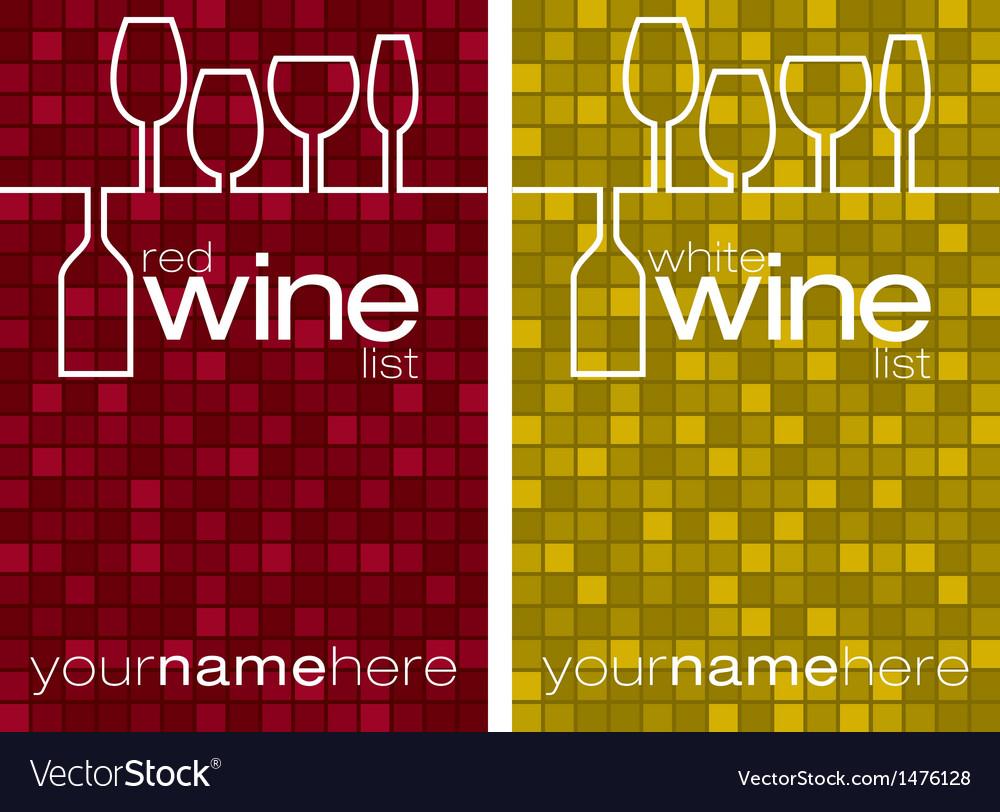 Wine list menu vector | Price: 1 Credit (USD $1)