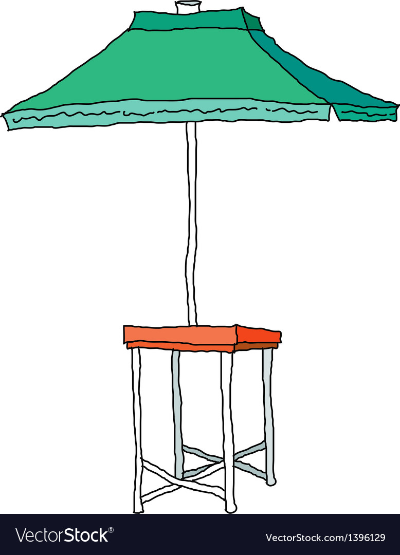 A parasol is placed vector | Price: 1 Credit (USD $1)