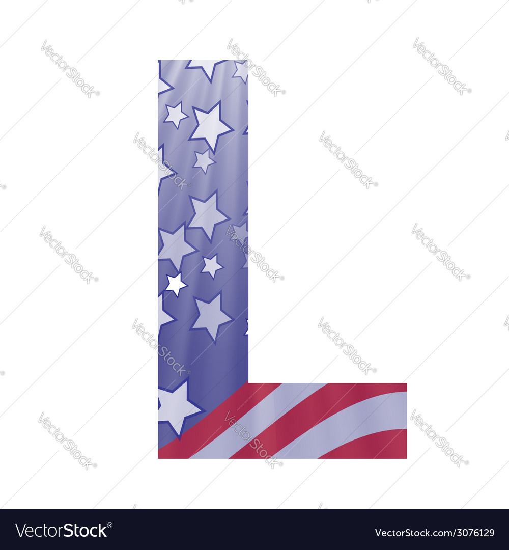 American letter l vector | Price: 1 Credit (USD $1)