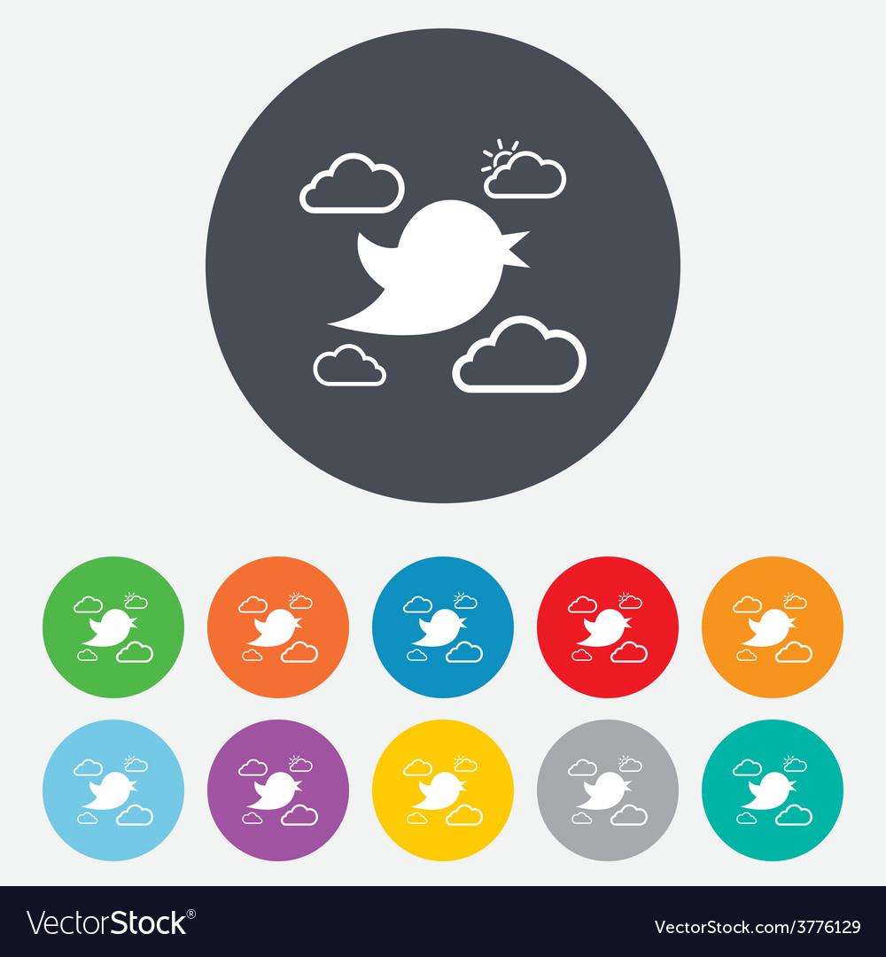 Bird sign icon social media symbol vector   Price: 1 Credit (USD $1)