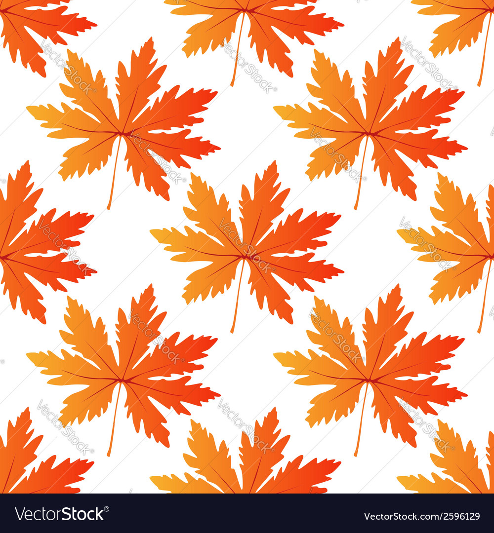 Pretty colorful autumn leaf seamless pattern vector   Price: 1 Credit (USD $1)