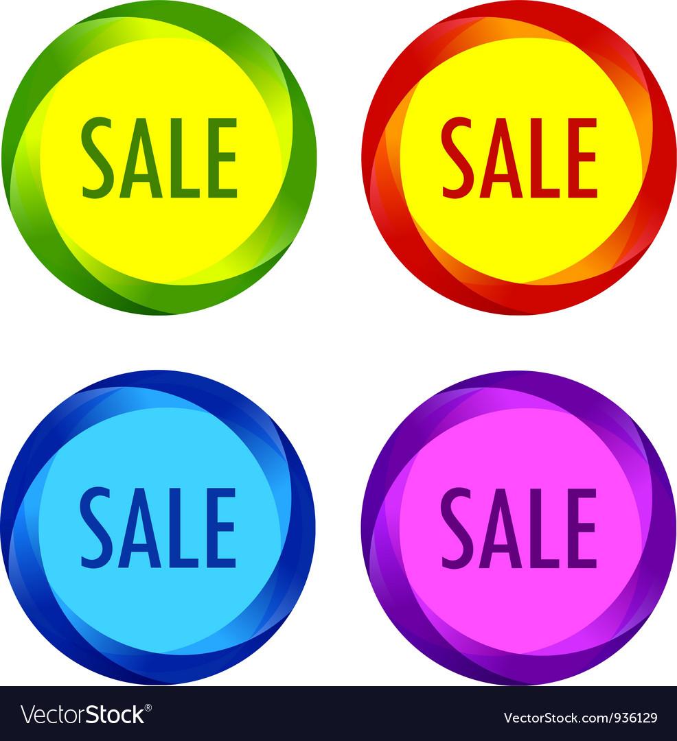 Set of unusual sale labels vector   Price: 1 Credit (USD $1)