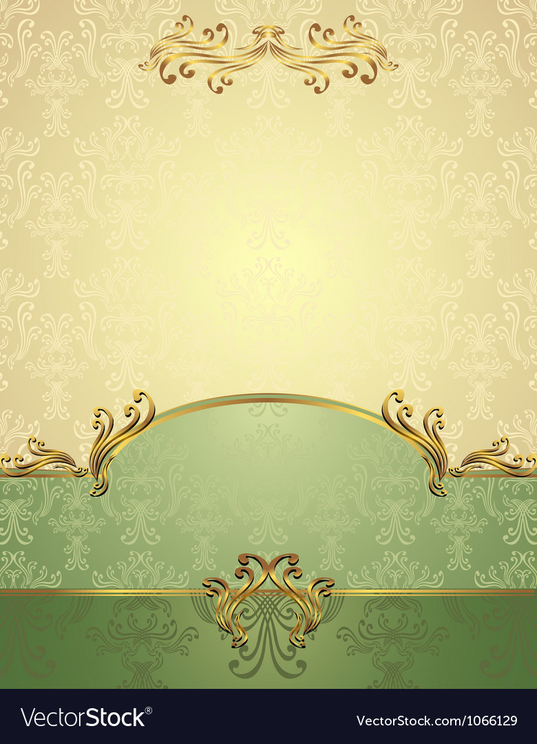 Set seamless pattern in victorian style vector | Price: 1 Credit (USD $1)